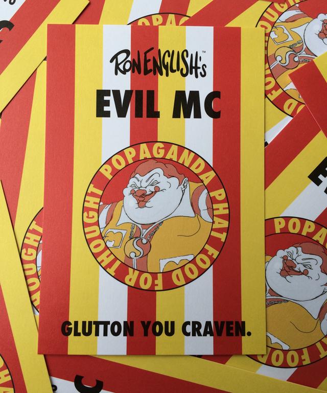 Ron English x BlackBook Toy( ロン・イングリッシュ) EVIL MC 16インチフィギュア
