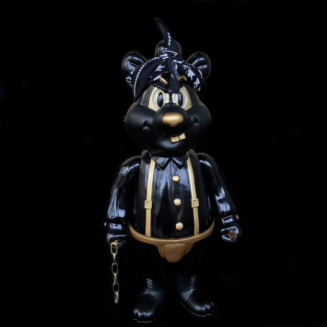 "Frank Kozik x BlackBook Toy:A Clockwork Carrot Dim 11インチフィギュア Thug Life Edition""><BR> *目深にMike Muirの様に。<BR>*Like Mike Muir<BR><img src="