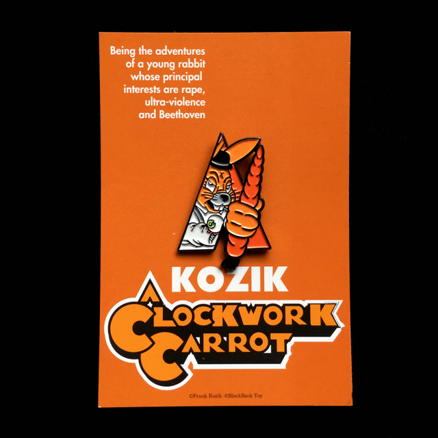Frank Kozik x BlackBook Toy:A Clockwork Carrot Lil Alex ピンズ